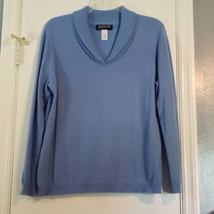 100% Cashmere Double V-Neck Sweater 1X